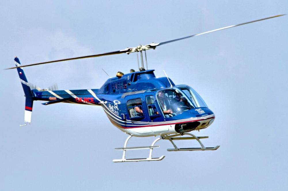 Let vrtulníkem Bell 206B