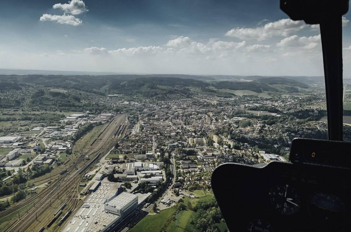 ČESKÁ TŘEBOVÁ - Let vrtulníkem 11.07.2020