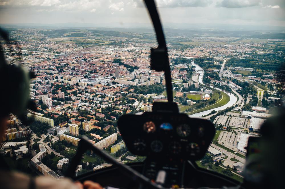 Let vrtulníkem | ČESKÉ BUDĚJOVICE a okolí (22.08.2021)