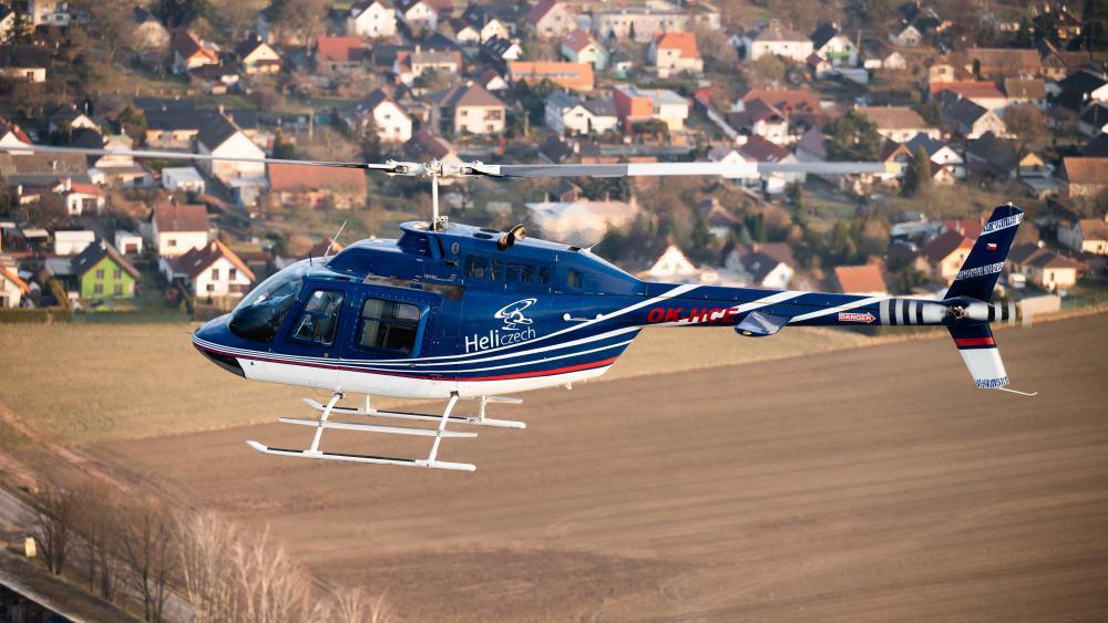DOMAŽLICE a okolí | Let vrtulníkem BELL 206 (24.04.2022)
