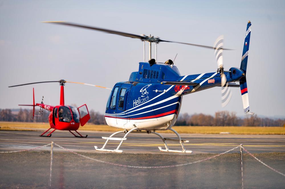 ROKYCANY a okolí | Let vrtulníkem BELL 206 (23.04.2022)