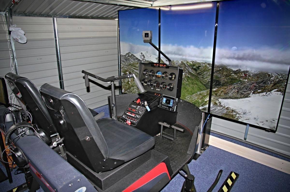 Let vrtulníkem na simulátoru