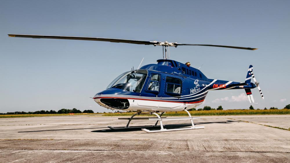 MĚSTO TOUŠKOV a okolí   Let vrtulníkem BELL 206 (23.04.2022)