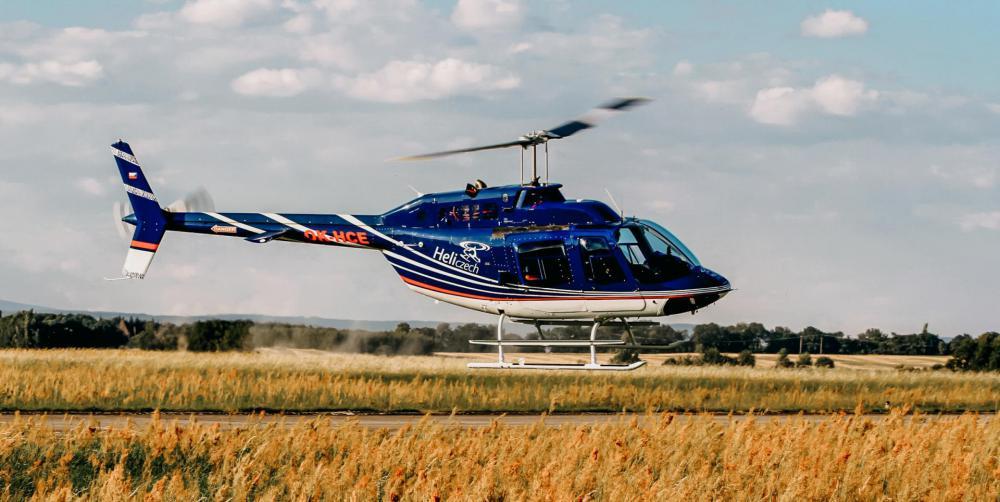 ROŽĎALOVICE a okolí   Let vrtulníkem BELL 206 (01.05.2022)