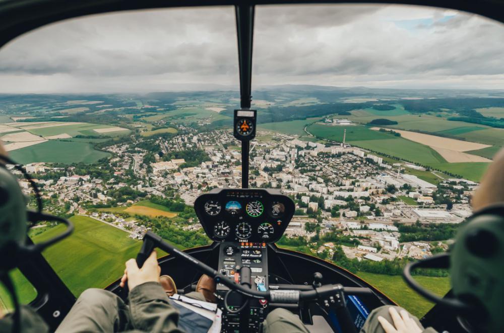 Let vrtulníkem | RYCHNOV N. KNĚŽNOU (04.04.2021)
