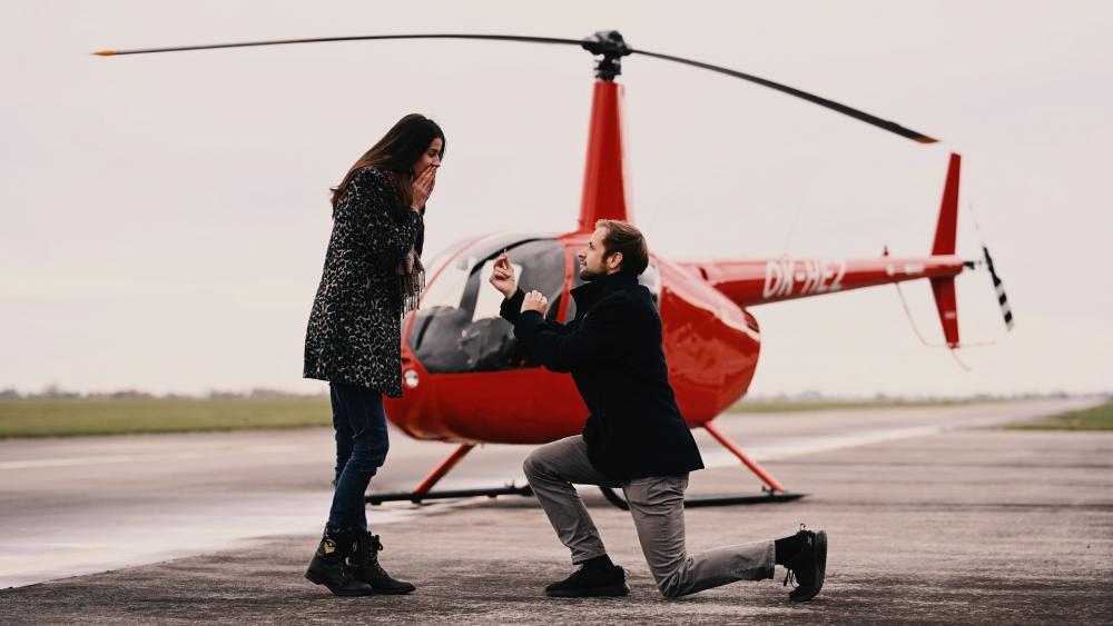 Romantický let vrtulníkem v denní dobu