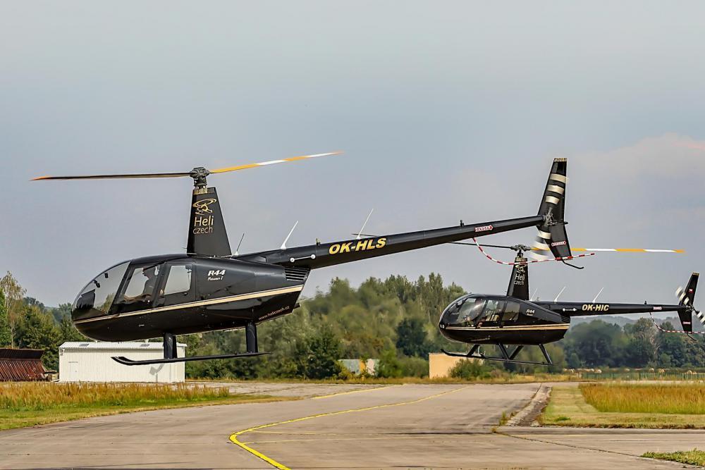 UHERSKÉ HRADIŠTĚ a okolí   Let vrtulníkem Robinson R44 (07.08.2022)