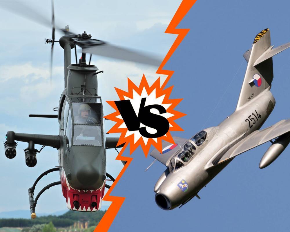 Vzdušný souboj LEGEND NEBES - AH-1 Cobra vs. MIG-15
